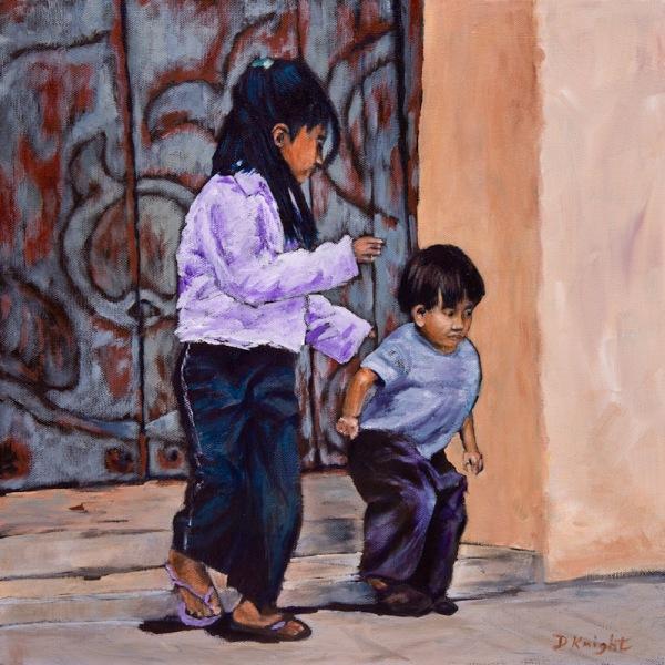 Mayan Kids at Play