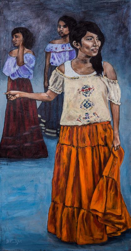 Mexico's Future – Girl in Orange Skirt