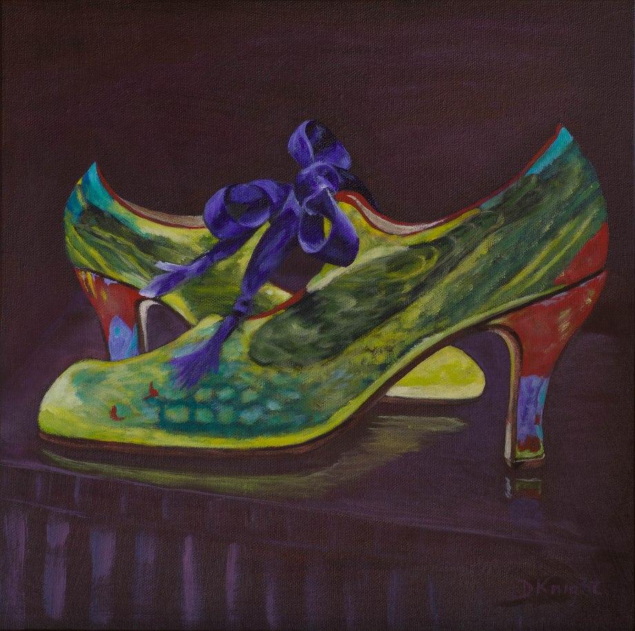"""Shoe Art 5 - """"Green Shoes"""""""