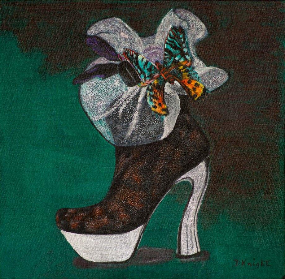 Shoe Art 9 - Butterfly & netting