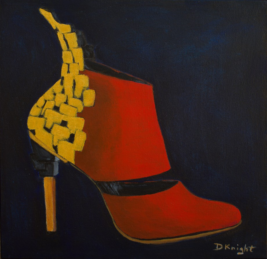 Shoe Art - 14 Red Ankle Boot